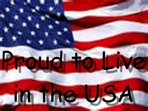 Proud to live in the USA